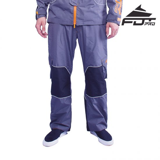 """Pro Pants\"" Dark Grey Color with Orange Trim"