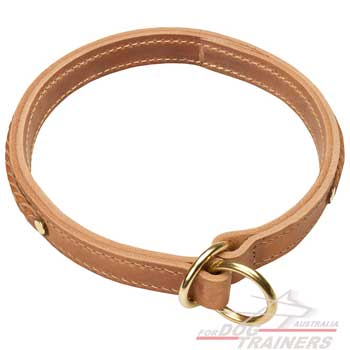 Braided leather collar for your pet