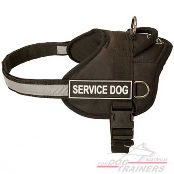 Nylon dog harness timeproof adjustable for training with comfortable handle
