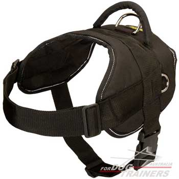 Reflective Pulling Nylon Dog Harness