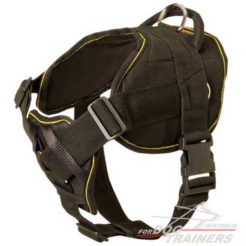 Strong reliable nylon pulling dog harness