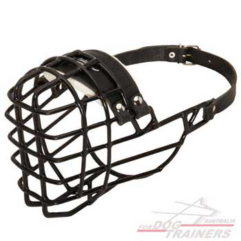 Black Rubber coated Wire Basket Dog Muzzle