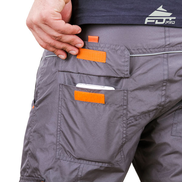 Comfortable Design Professional Pants with Handy Side Pockets for Dog Training