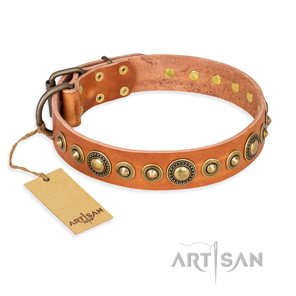 Durable leather collar made for your doggie