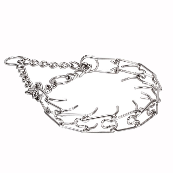 Prong collar of stainless steel for badly behaved dogs