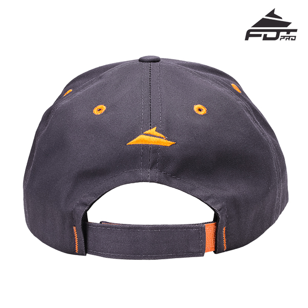 Easy Adjustable Unisex Snapback Cap of Dark Grey Color for Dog Training