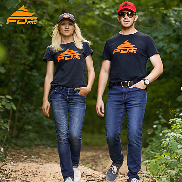 Orange Logo on FDT Pro Design T-shirt of Dark Grey