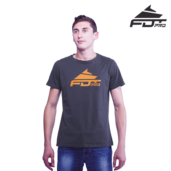Strong Cotton FDT Pro Men T-shirt Dark Grey Color