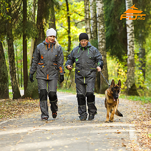 Unisex High Quality Dog Tracking Suit for Men and Women with Reflective Strap