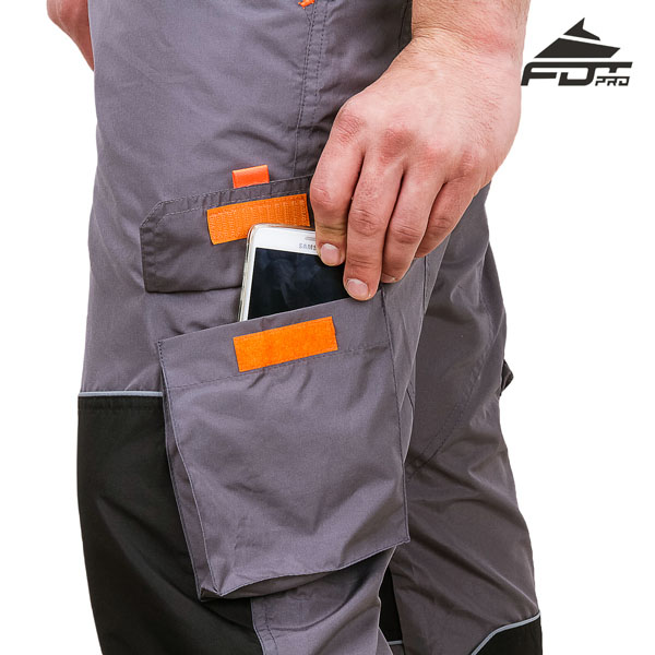 Top Quality Pants with Back Pockets on Velcro closure